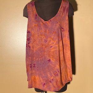 **3/$25** Terra & Sky tie dye women's tank top